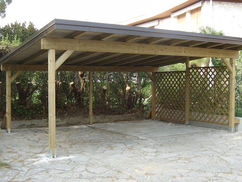 Carport verona carport in legno antigrandine for Soluzioni giardino in pendenza