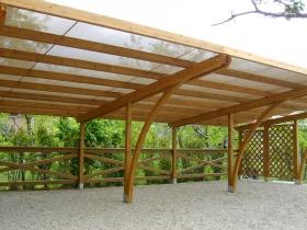 Carport triplo in legno lamellare con antigrandine soltis