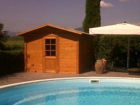Casetta per impianti piscina