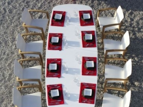 Tavolo e sedie design arredo da esterno