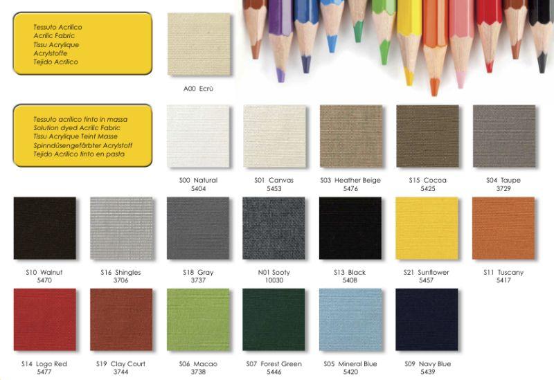 Ombrelloni moderni colori teli