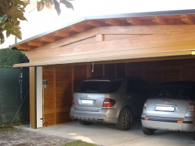 Box auto doppio in legno