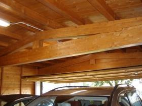 Struttura box auto doppio in legno