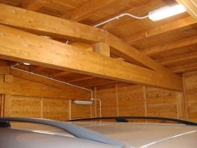 Struttura garage auto doppio in legno