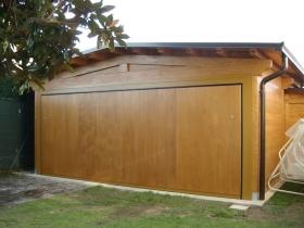 Basculante grande box doppio in legno