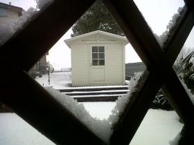 Casetta in legno smaltata bianco