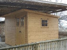 Casetta in legno con porta doppia