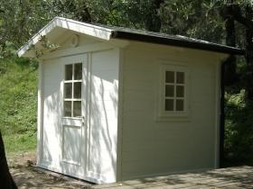 Casetta legno smaltata bianca