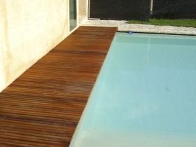 Passerella piscina in legno ipe lapacho