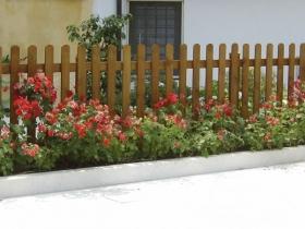 Steccato verticale in legno