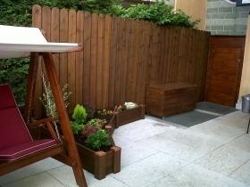 Steccato barriera verticale in legno