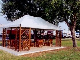Gazebo rettangolare 6x4 legno pvc
